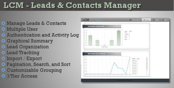 LCM - Leads & Contacts Manager